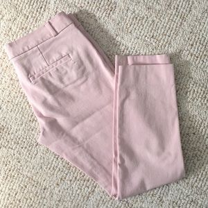 Banana Republic Blush Sloan Skinny Ankle Pants